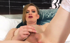 Blonde Amateur Shemale Jerking And Toying Ass