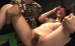 Doggy style fucking Sayuri in a nasty ass threesome