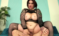 A Guy Worships a BBW's Fat Body and Fucks Her Hard