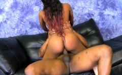 Filthy Black Ghetto Whore Very Rough Mounted Fucking On Sofa