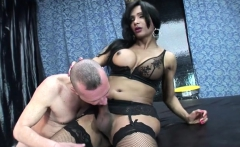 Hot shemale anal sex with facial