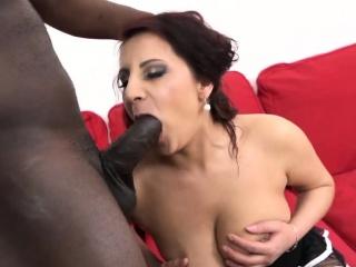 Black guy bangs a cute brunette babe
