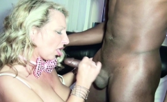 GERMAN MILF Seduce Big Cock Black Boy to Fuck on Party