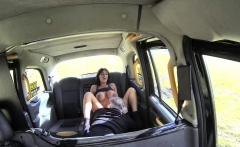 Fake Taxi Sex mad busty cock loving horny brunette