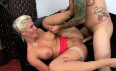 Busty chick loves a hard cock