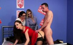 Pussyfucked cfnm babe dominates naked guy