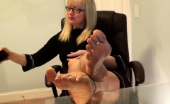 Foot Fetish Blonde Get Fuck