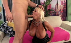 Busty Grandma Mandi McGraw Rides a Cock