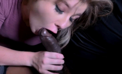 Petite 18yo sucks strangers black cock