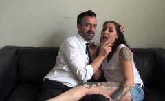 Throating and gagging sub
