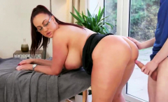 Step mom and associate' duddy in changing room Big Tit Step-
