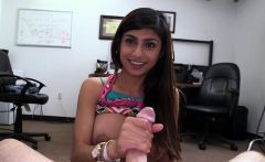Aroused Mia Khalifa with curvy tits gets cuch explored