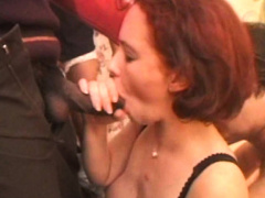 His Wife Is Fucked Blindfolded By 4 Dudes
