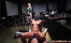 Arab sexy teens fucked Sneaking in the Base!
