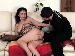 Young Guy Anal Fucking A Mature French Brunette Honey