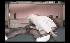 Busty interracial fetish blonde