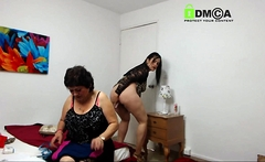 Latin bbw milf serves large darksome man and his cock