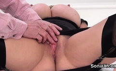 Unfaithful english mature lady sonia shows her large hooters