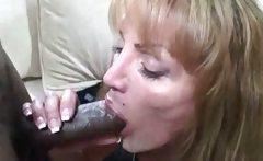 Yummy Mature Lady Sucking Afro Cock