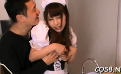 Frisky eastern floozy Shunka Ayami gets hammered