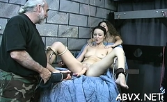 Harsh treatment on mature bawdy cleft in sexy thraldom xxx