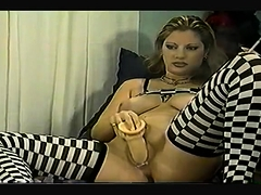 Vintage Breasty Tiziana Redford Solo Masturbation