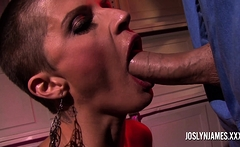 Big tit Joslyn James sucking a big cock in POV