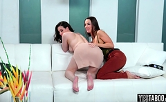 The boss have a bratty and slutty lesbian stepdaughter