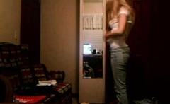 Hot girl strips off her hot bra on live webcam
