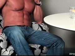 Muscle Bodybuilder Dildo With Cumshot
