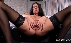 Slutty czech kitten opens up her yummy vagina to the extreme