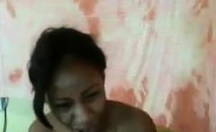 Ebony Teen Pleasing Pussy