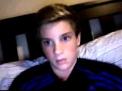 Shy Blond Adidas Shirt Boy Blows His Load On Cam