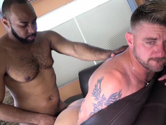 Manalized Black Ray Diesel Cums After Interracial Bareback