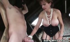 Mrs Sonia submits erections to her dominance