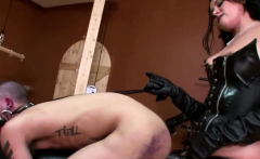 Sexy babe loves to fuck a dudes ass in bdsm bondage