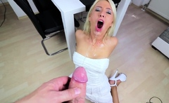 Naughty step mom fucked on the table