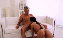 OLD4K. Coquettish employee seduces her old boss