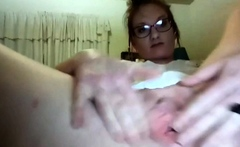 Slutty solo with wide gaping pussy