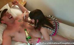 Amateur couple loves having horny sex