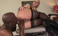 Curvy blonde MILF gets anally drilled by BBC