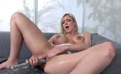 Hot Busty Blonde Wets Her Panties