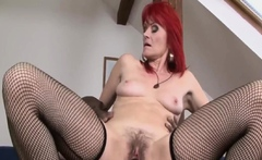 Old cougar riding bbc