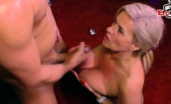 German Big Tits Blonde Mature Milf With Piercing