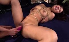 Asian amateur slut handles anal toys