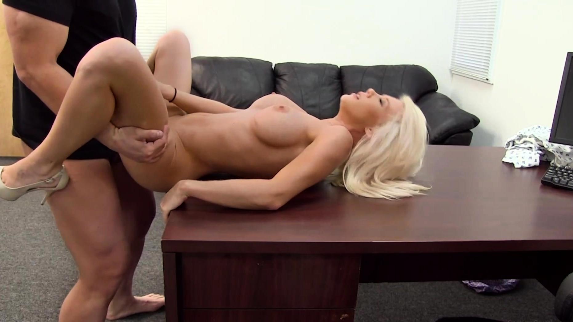 27yo Sales Girl Madeline Eats Cum After Audition!