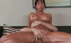 Sexy pornstar banging her hot masseur on the floor
