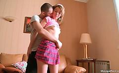 Attractive teen hottie Silvia takes
