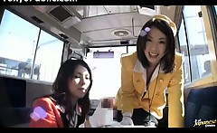 Japanese Bus Girls In Uniform - Public 150284
